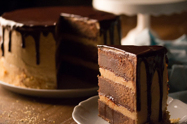 Peanut Buttercream Frosted Milk Chocolate Cake  (aka 'FAT ELVIS')
