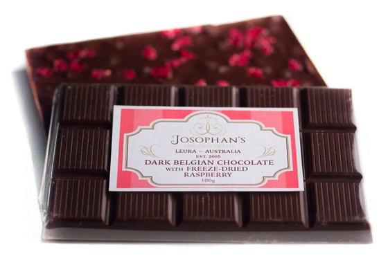 Dark Chocolate with Freeze Dried Raspberry