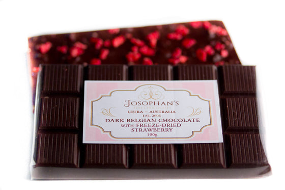Dark Chocolate with Freeze Dried Strawberry
