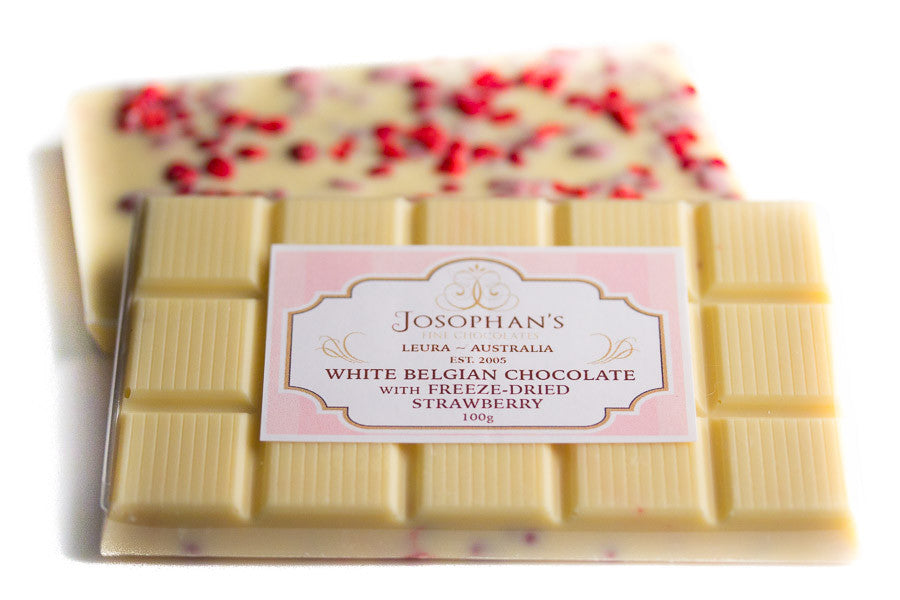 White Chocolate with Freeze Dried Strawberry