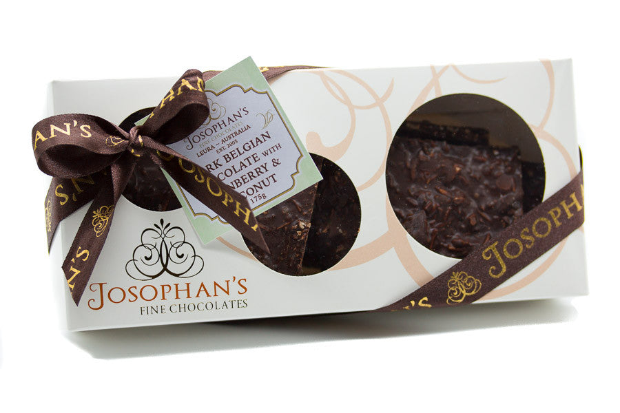 Dark Chocolate with Cranberry & Coconut