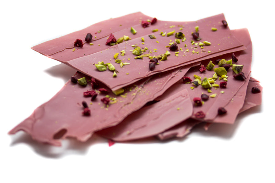 Ruby RB1 Chocolate with pistachio & freeze dried raspberry