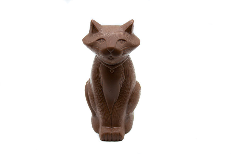 Milk Chocolate Cat Figurine