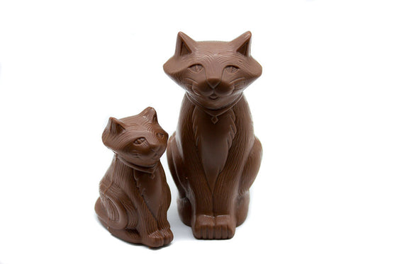 Milk Chocolate Cat & Kitten