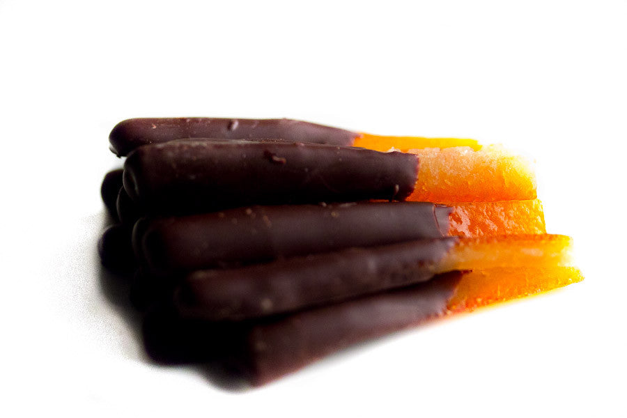 Orange Peel Dipped in Dark Chocolate