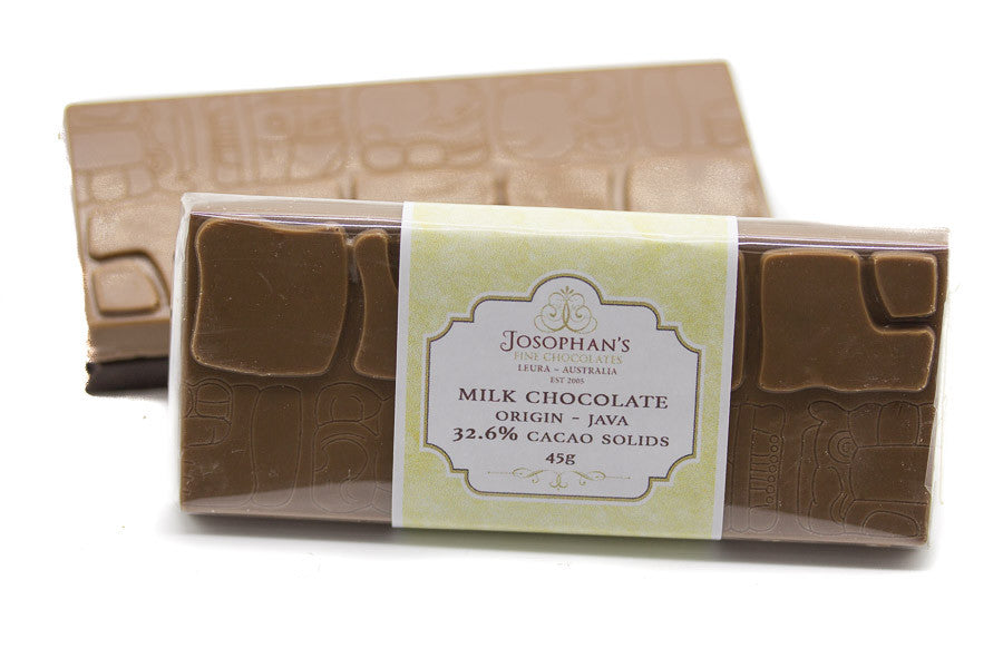 Milk Chocolate Block Single Origin - Java 32.6% cacao solids