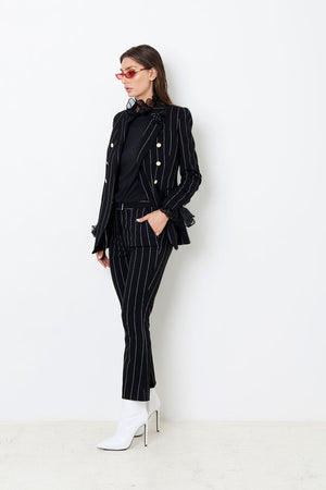 The King of Wishful Thinking Blazer ( Black and White Pinstripe )