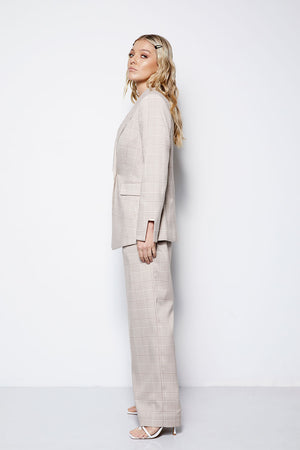 The Gere Blazer - Check Creme
