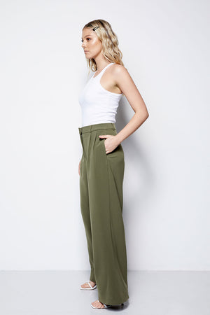 The Palazzo Pant - Olive (Pre Order * end of Jan delivery)