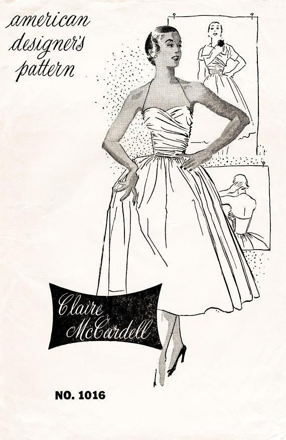 Spadea Claire McCardell 1016 1950s dress sewing pattern