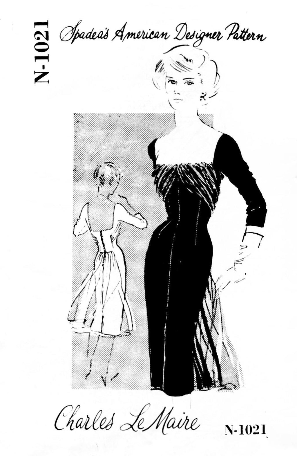 Spadea 1021 Charles Lemaire dress sewing pattern