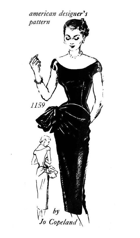 Spadea 1159 Jo Copeland 1950s cocktail dress sewing pattern