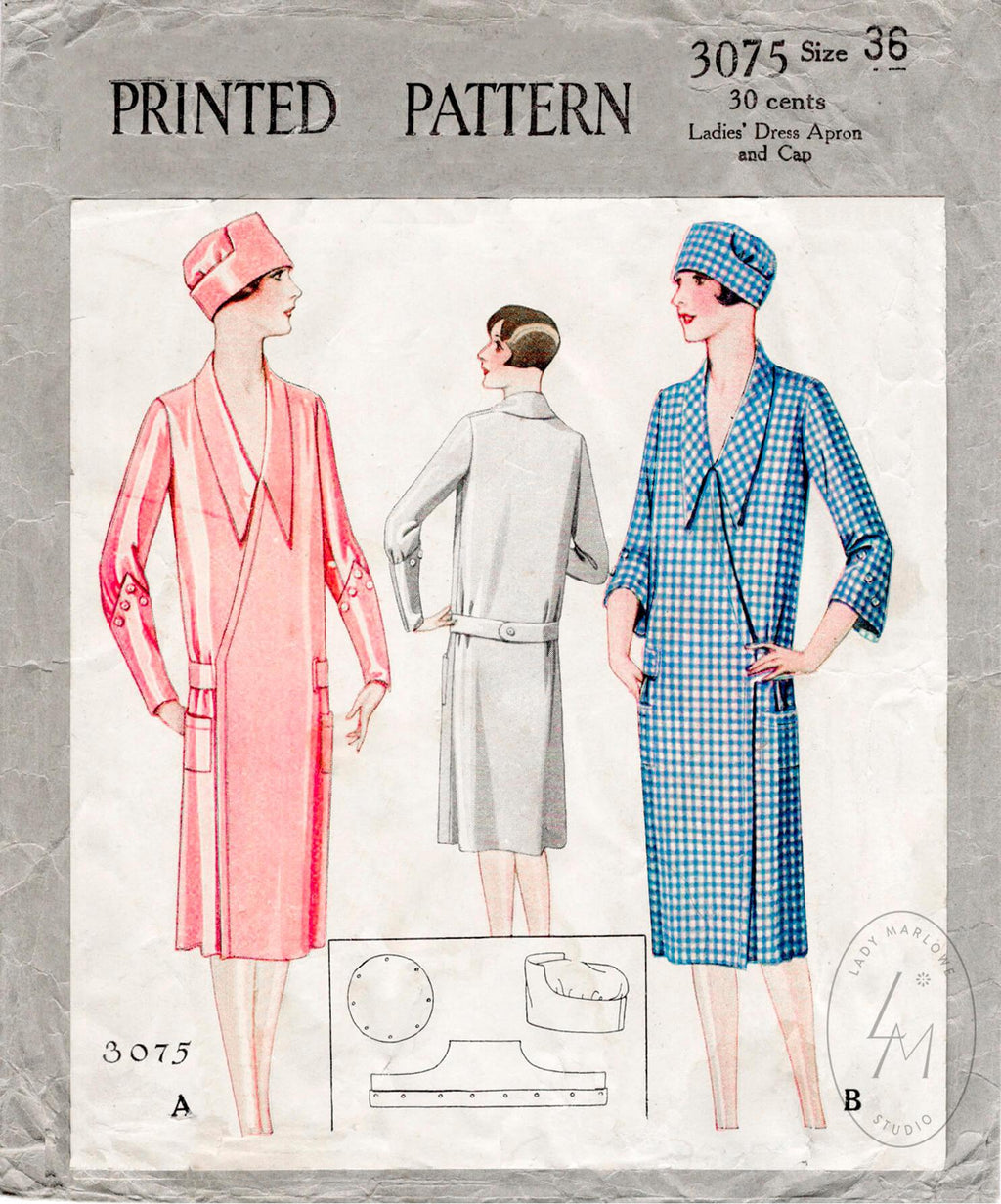 McCall 3075 1920s sewing pattern duster coat 1920 20s