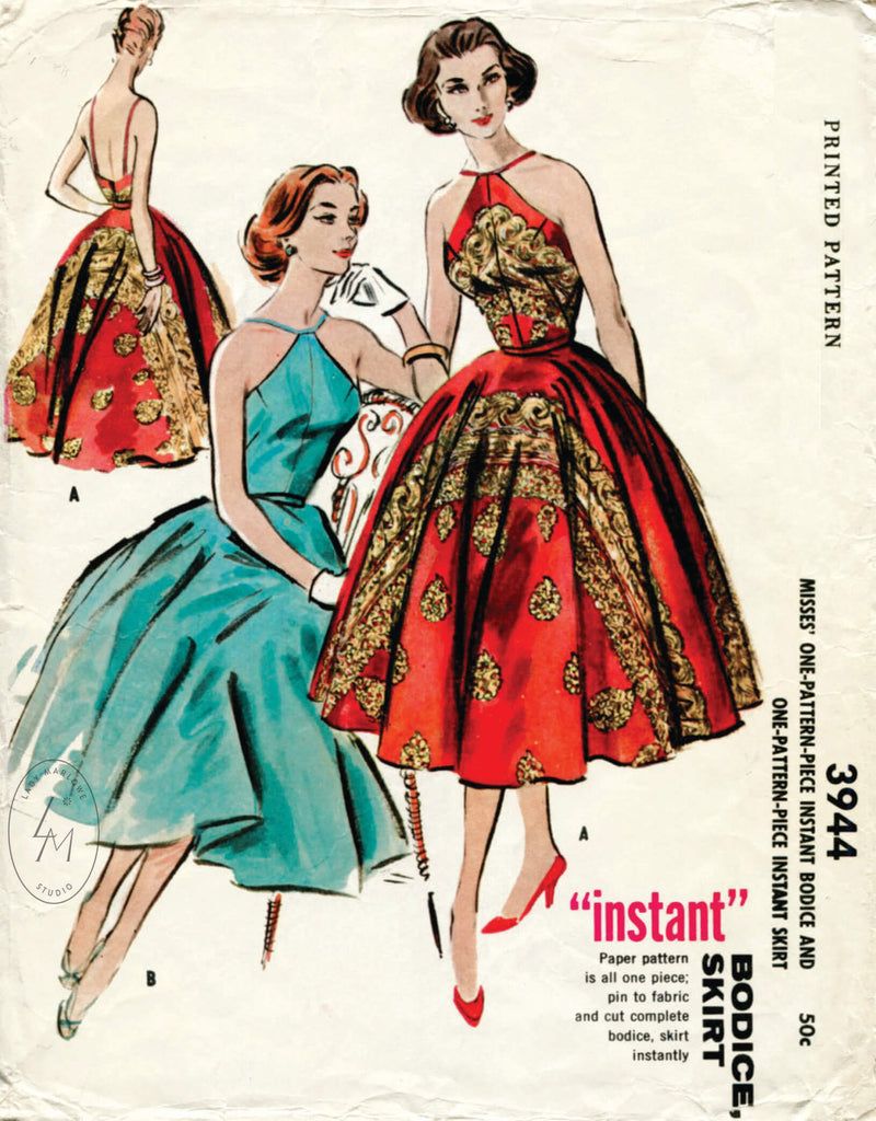 McCall 3944 1960s cocktail dress vintage sewing pattern