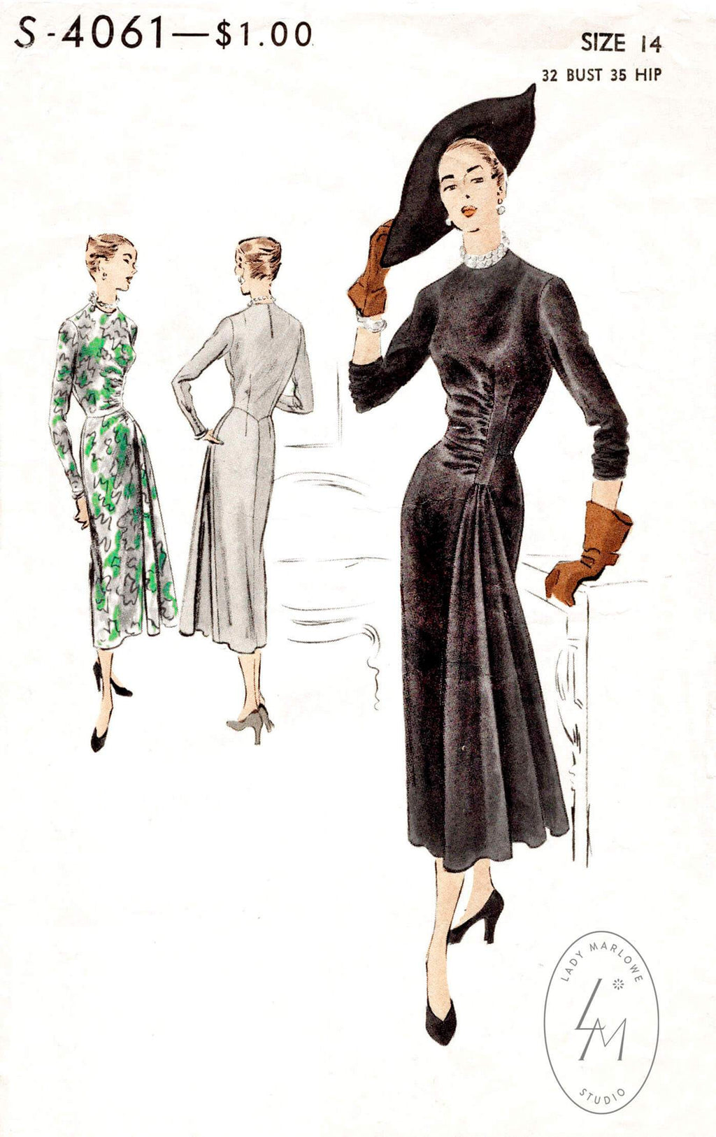 Vogue Special Design 4061 1950s dress sewing pattern