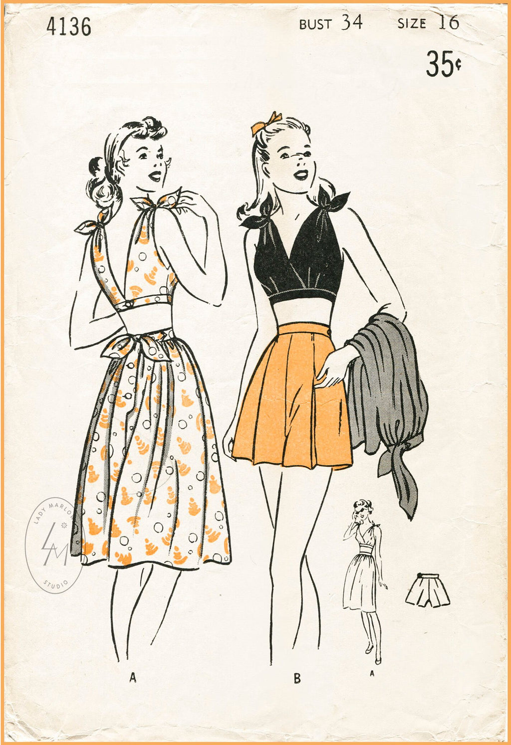 1950s Vintage sewing pattern reproduction coat dress 1119 – Lady Marlowe