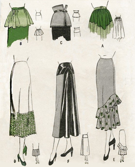 Butterick 4408 1940s set of skirts vintage sewing pattern