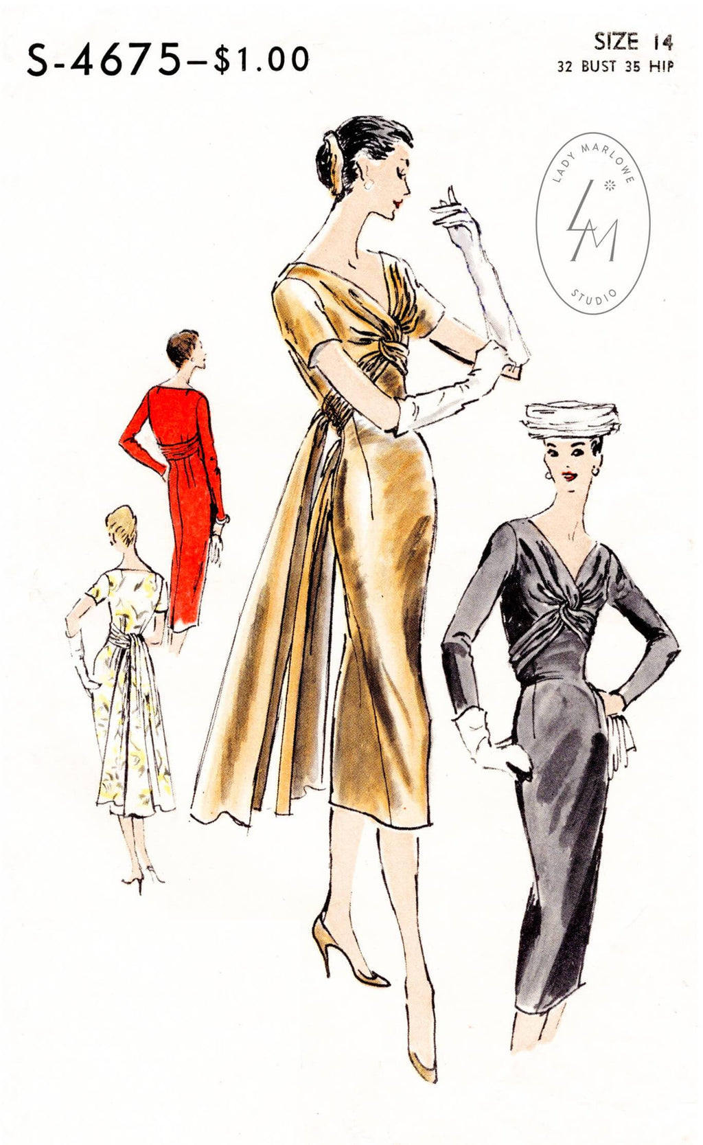Vogue Special Design 4675 1950s sewing pattern 1950 50s