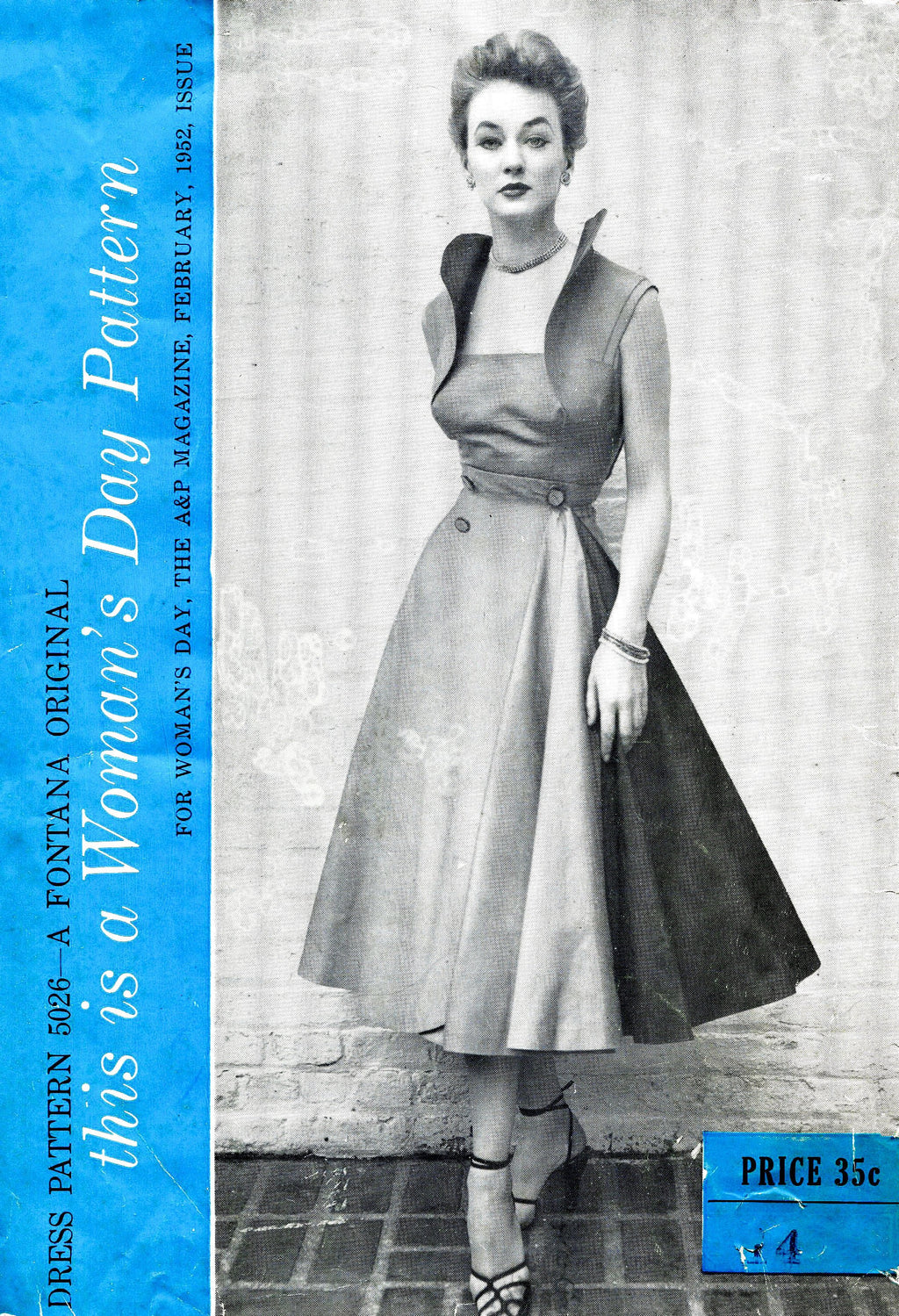 Woman's Day 5026 Fontana 1950s vintage sewing pattern reproduction