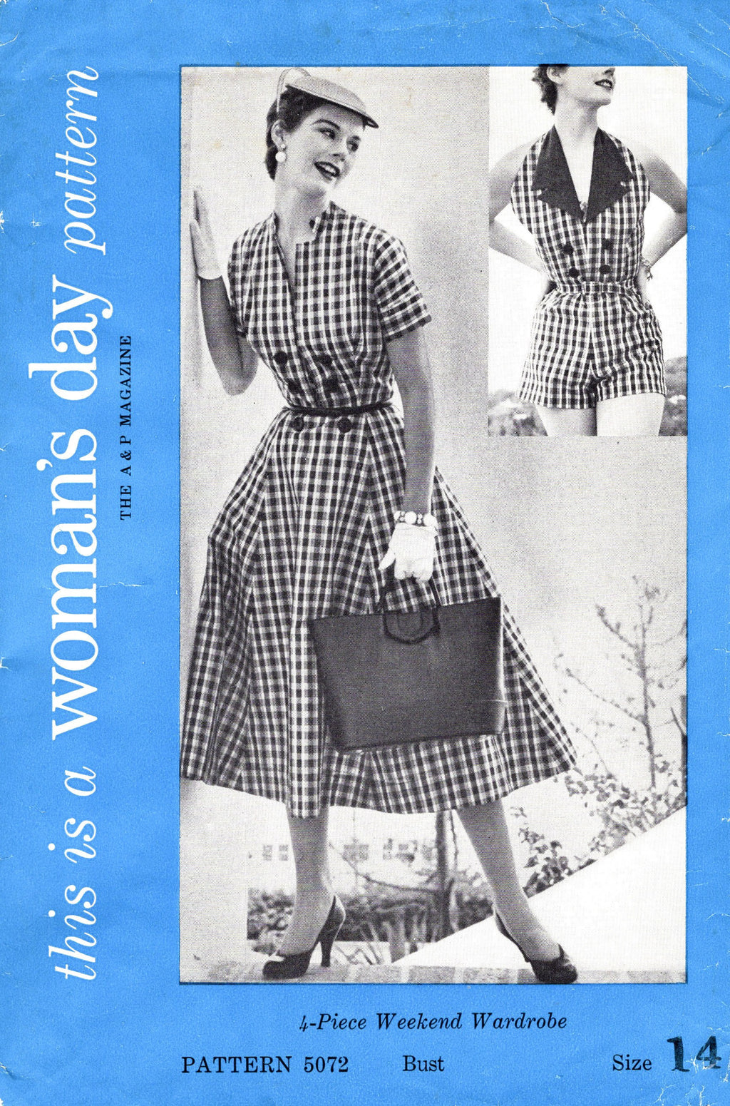 1950s beachwear sewing pattern Woman's Day 5072