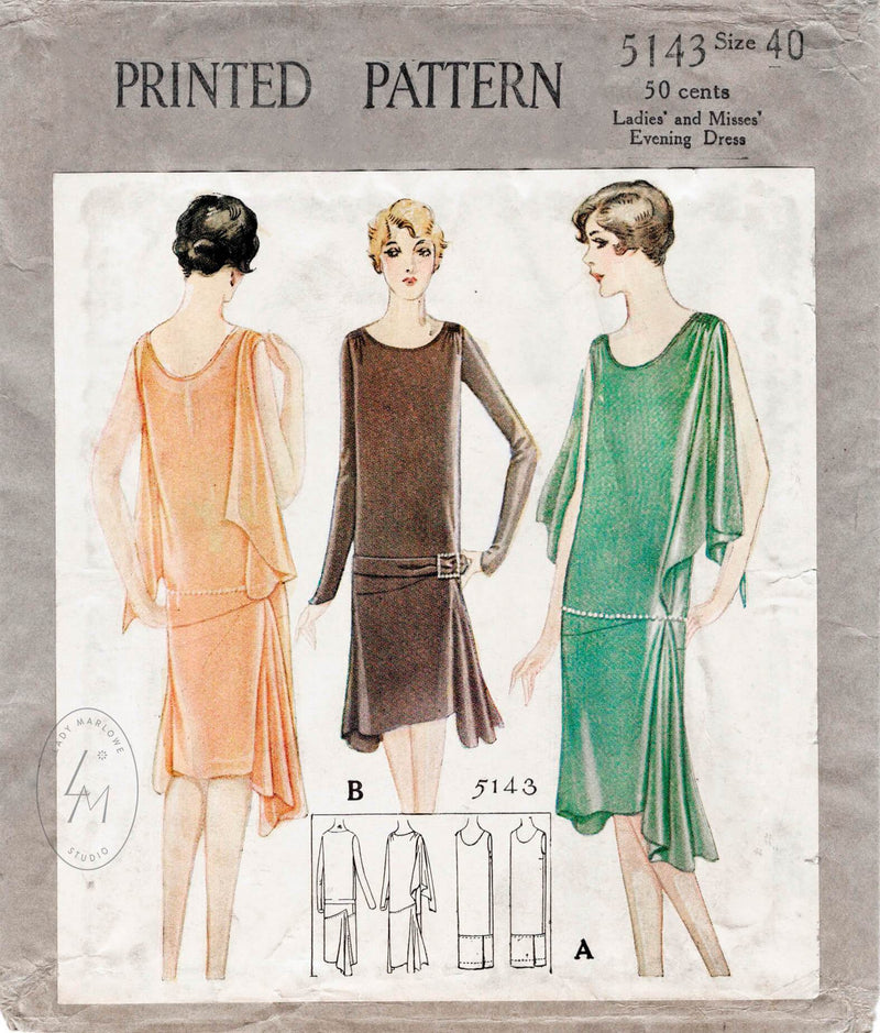971f7e18f68 1920s evening gowns cocktail dresses sewing patterns – Lady Marlowe