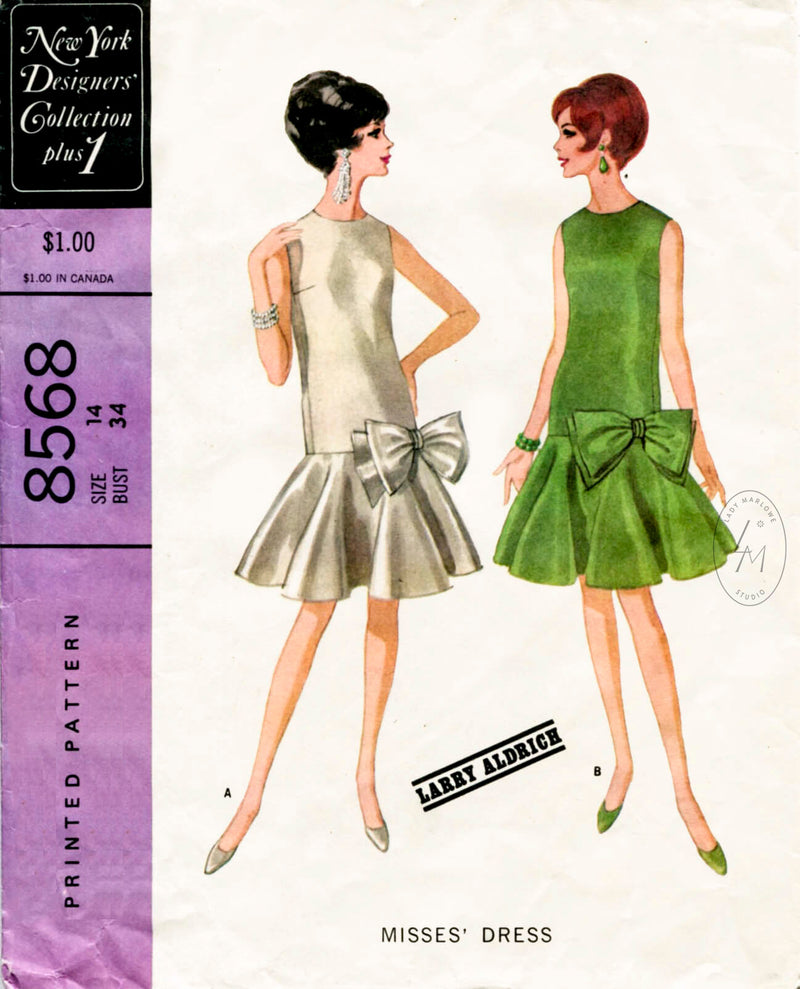 McCall 8568 1960s dress sewing pattern