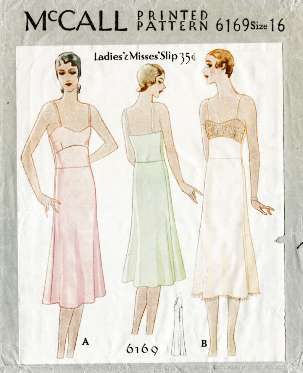 McCall 6169 1920s slip dress vintage lingerie sewing pattern