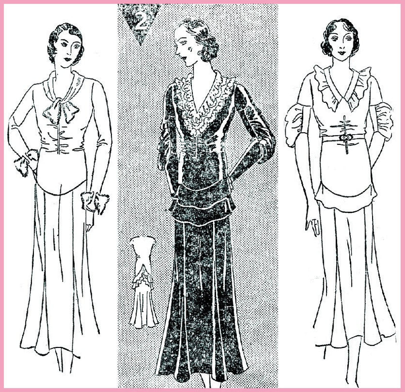 Simplicity 1041 1930s afternoon dress pattern