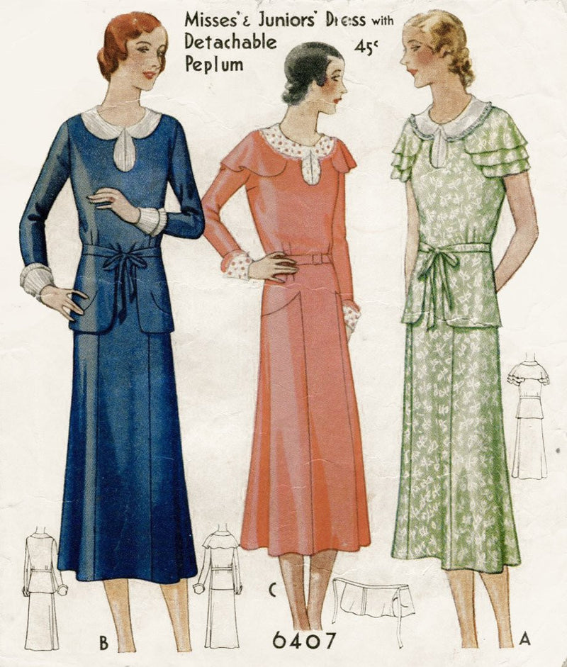 McCall 6404 1920s dress sewing pattern