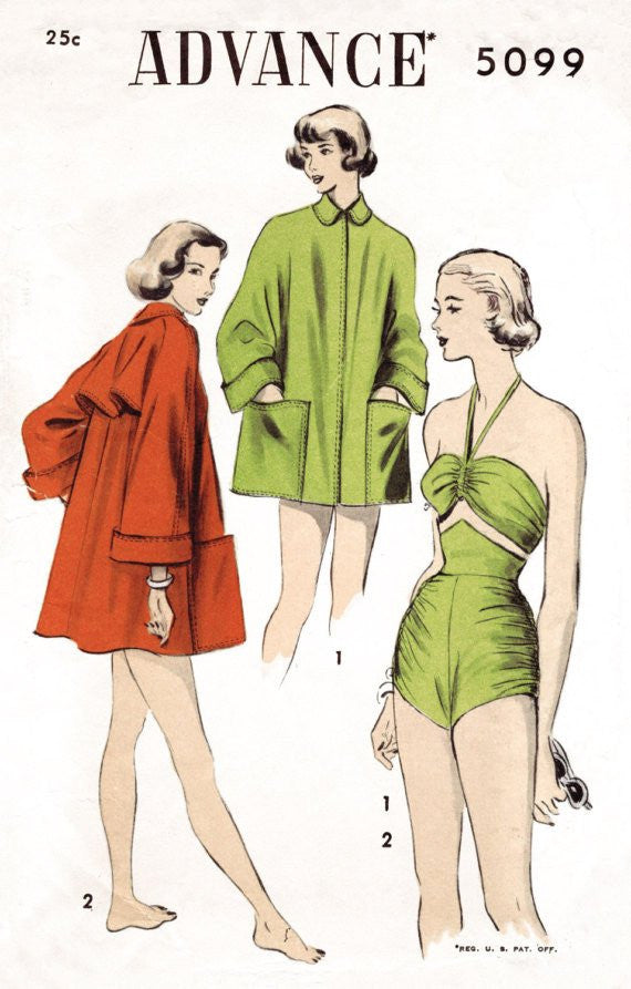 Vintage Swimwear & Playsuits Sewing Patterns – Tagged \