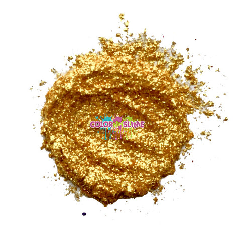 Crushed Gold Leaf Slime Pigment