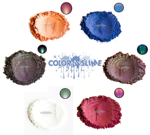 6 Color Changing Slime Pigments Kit