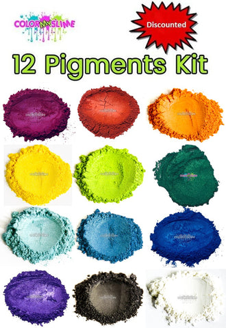 12 Color Slime Pigments Kit