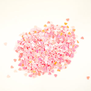 Light Pink Heart Flakes