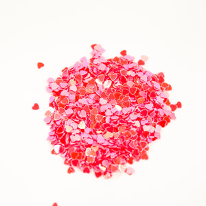 Redish Pink Heart Flakes