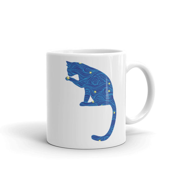Cat Sitting Coffee Mug One