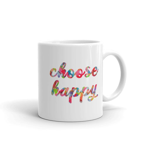be happy inspirational quotes watercolor coffee mug