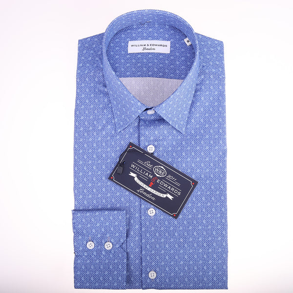 Lusso Casual Maglia del Diamante di Stampa Slim Fit Limited Edition Camicie
