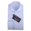 Blue Micro Square Dobby  Button Cuff Cutaway  Collar Shirt