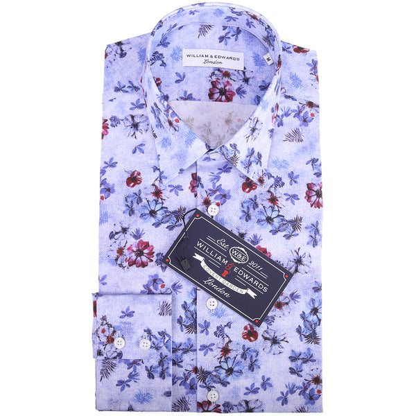 Lujo Casual Retro Floral Slim Fit Party Camisas