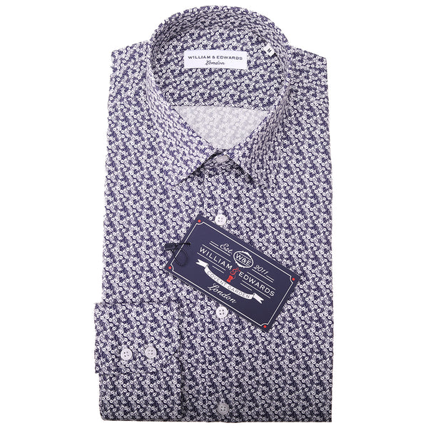Luxury Casual Retro  Dice Print Slim Fit Limited Edition Party Shirts