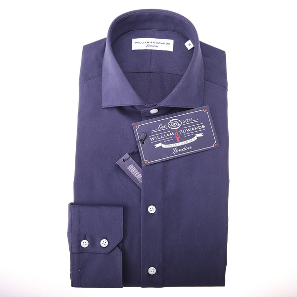 Navy Thick Twill   Slim Fit  Luxury Dress Shirt