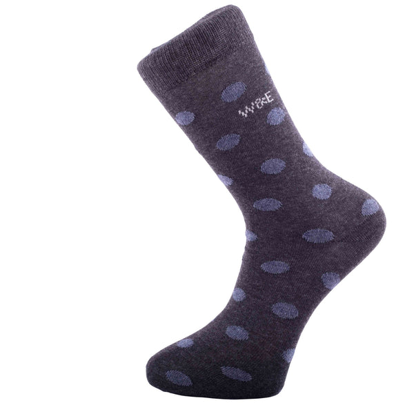14-Pack Antracite - big dots Mens Smart Breathable Luxury Cotton Socks Eco-Friendly From Recycle Cotton