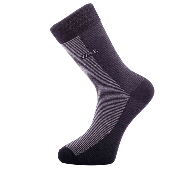 14-Pack Black Stripe Men's Smart Breathable Luxury Cotton Socks Eco-Friendly From Recycle Cotton