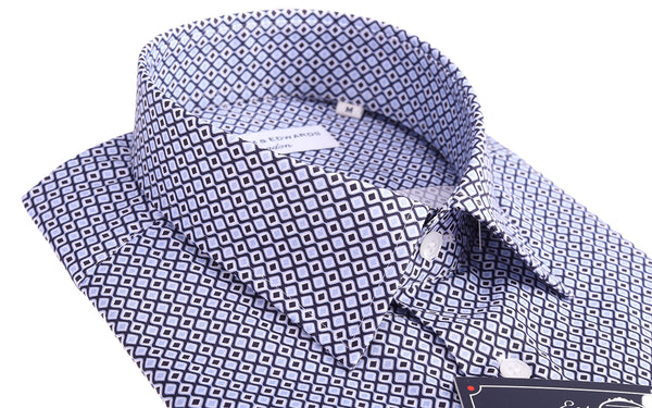 Luxury Casual Retro  Diamond Wave Print Slim Fit Limited Edition