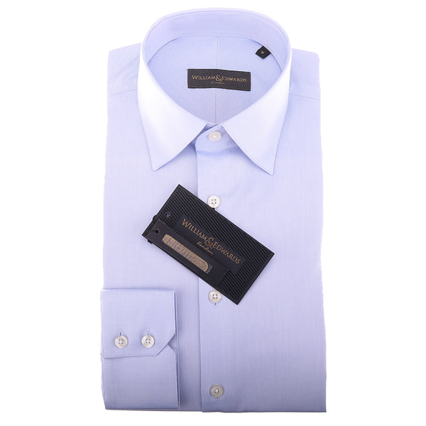 2 Fold 100/2 Soktas Egípcio Cotton-Non Iron Luxury Blue Twill shirts