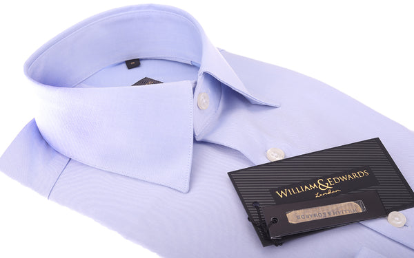 2 Fold 100/2 Soktas Egyptian Cotton-Non Iron Luxury Blue Twill shirts