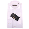 2 Fold 120/2 Italian Cotton Self Stripe  Luxury White  Shirts