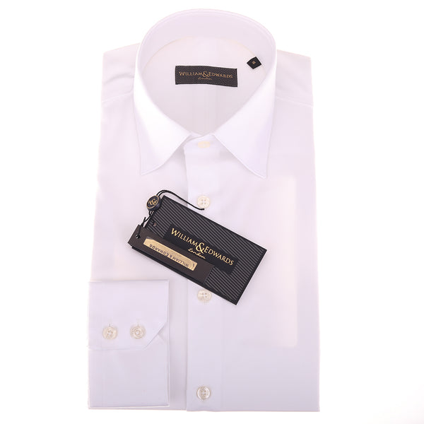 2 Fold 100/2 Soktas Egípcio Cotton-Non Iron Luxury White Twill shirts