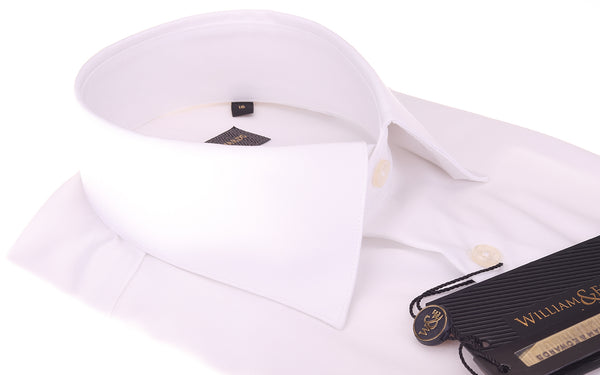 2 Fold 100/2 Soktas Egyptian Cotton-Non Iron Luxury White  Twill shirts